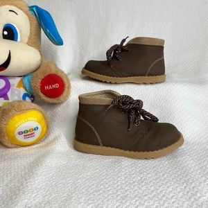 Toddler Brown Leather Boots